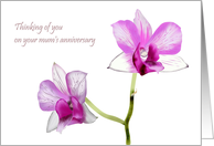 Remembering your mum, purple orchids card