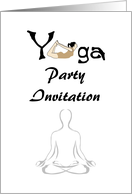 Yoga party invitation, backbend yoga position card