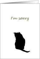 I'm sorry, cat sitting with back to us card