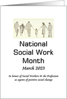 National social work month March 2020, in honor of social workers card