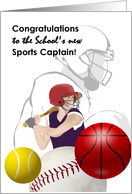 Congratulations to school sports captain, students engaged in sports card