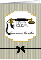 Festivus wishes from across the miles, antique phone card