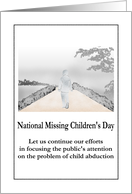 National Missing Children's Day, focus on problem of child abduction card