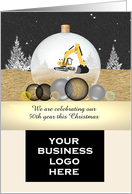 Grading excavating company anniversary and Christmas greeting card