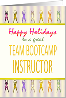 Happy holidays team bootcamp instructor, Christmas card