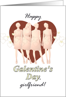 Galentine's Day, ladies looking great card