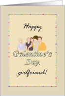 Galentine's Day, friends of differing ages enjoy each other's company card