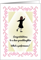 Granddaughter's 1st dance recital, young lady doing a tap dance card