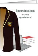 Being Made Head Pupil, School Blazer, Laptop and Books card