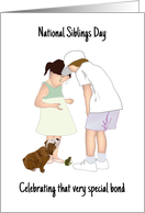 National Siblings Day, Brother and Sister Spending Time Together card