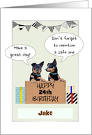 Birthday Lancashire Heelers Gifts Decorative Flags and Custom Date card
