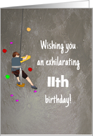 Custom Age Birthday for Young Boy Rock Climbing card