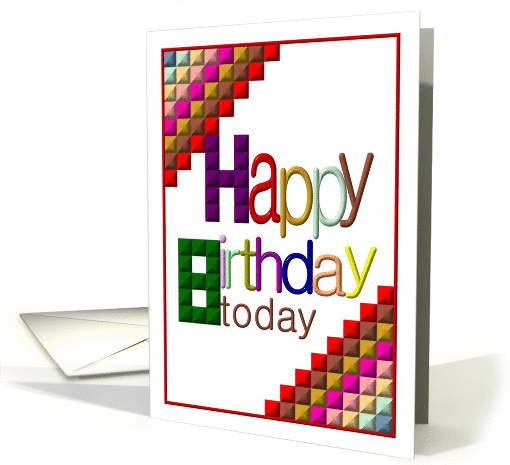 8th Birthday, Colorful cubes card (883184)