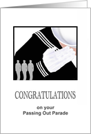 Congratulations on Navy passing out parade card