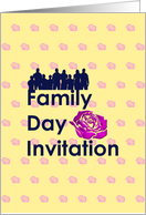 Invitation for Family Day, Silhouette of family standing together card