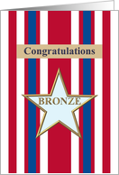 Congratulations on military Bronze Star award card