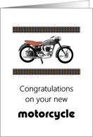Congratulations on your new motorcycle card