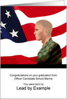 Son graduation from OCS Marine, Lead by Example card