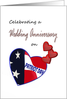 Wedding anniversary on Patriot Day, With loving memories card