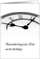 In remembrance of dad on his birthday, Hands of time card