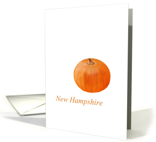Blank note card, New Hampshire pumpkin state fruit symbol card
