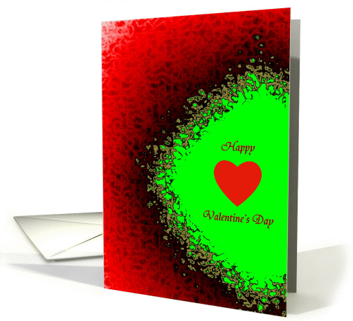 Valentine's Day, Burning heart card (996773)