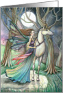 Believe - Lovely Fairy and Unicorn Card by Molly Harrison card