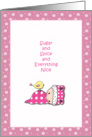 Girl Baby Shower Card - Pink card