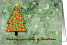 Christmas Card - Little Tree with Red Stars card