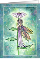 Starry Garden Fairy Blank Card Any Occasion by Molly Harrison Art card