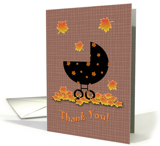 Fall Autumn Baby Thank You card (856304)