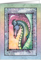 Thank You Card - Watercolor Dragon by Molly Harrison card