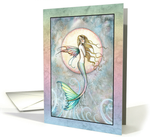 Blank card - Mermaid Leaping out of Sea card (858394)