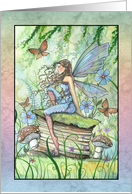 Thank You Card - Fairy and Butterflies card