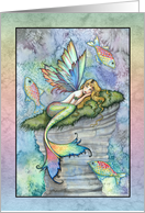 Thinking of You Card - Mermaid with Fish card