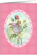 Thank you card - Fairy and Bunny Fairy card