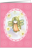 Thinking of You Card - Cute Firefly Fairy card