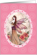 Thank You Card - Lovely Rose Fairy card