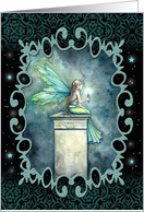 Thinking of You - A Light in the Dark - Fairy with Candle card