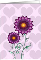 I'm Sorry, Apology - Purple Flowers and Hearts card