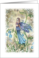 Thank You Card - Blue Bell Flower Fairy card