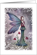 Thank You Card - Flowers in Winter Flower Fairy card
