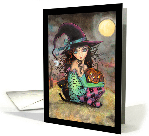 Halloween Witch and Black Cats card (964479)