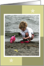 Child Playing in the Sand Blank card