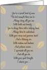 Husband Birthday ~ Falling Leaves Poetry card
