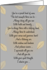 Father's Day ~ Falling Leaves Poetry card