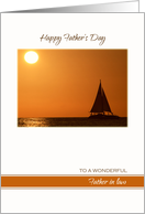 Happy Father's Day for Father in Law ~ Sailboat on the Ocean card