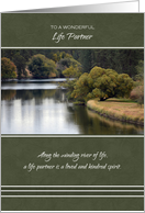 Happy Father's Day for Life Partner ~ Winding River Reflections card