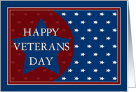 Happy Veterans Day - Red, White and Blue Stars card