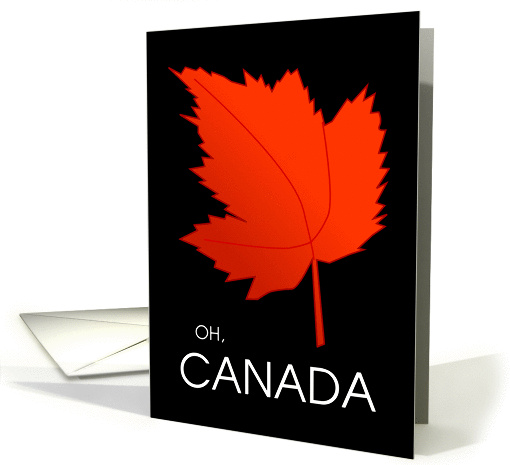 Happy Canada Day - Oh, Canada - Red Maple Leaf card (1110938)